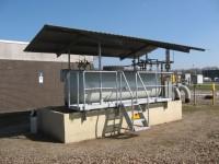 Nieuw bordes en dak voor odoranttank