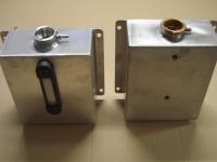 aluminium en rvs koelwater expansie tankjes uit voorraad leverbaar
