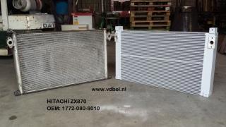 Nagebouwde aluminium hydrauliek oliekoeler oilcooler hitachi 870 OEM: 1772-080-8010 - 4655038