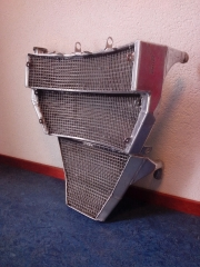 Aangepaste aluminium radiateur racemotor - motor motorfiets aluminium