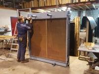 Radiateur revisie voor een grote hydrauliek unit