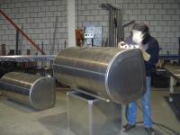 Reparatie aluminium brandstoftank